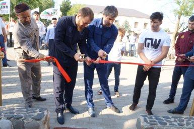 Открытие площадки по воркауту в селе Ачхой-Мартан